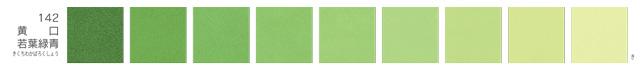 新岩絵具・黄口若葉緑青